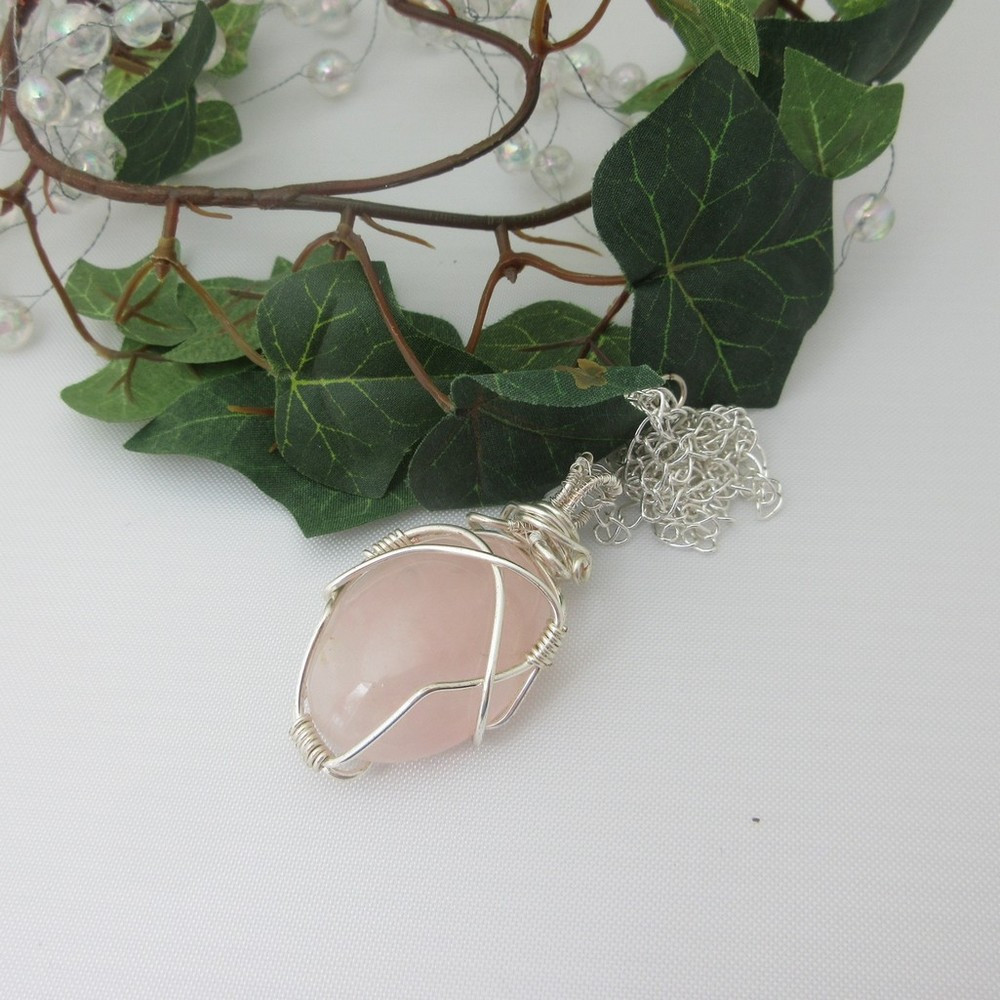 Rose Quartz Pendant by Indigo Berry