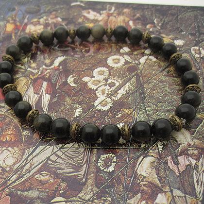 Gemstone Bracelet, Golden Obsidian