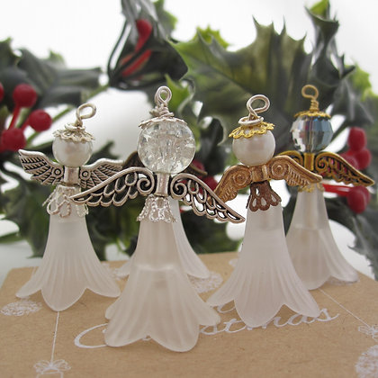 Frosted Fairy, Hanging Decoration, White