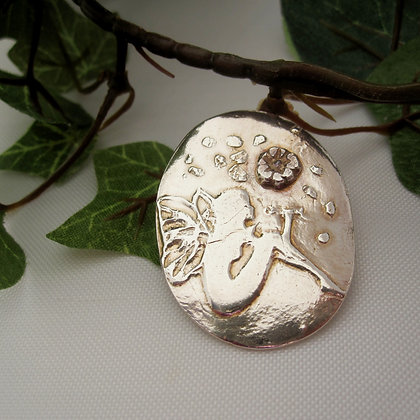 Handcrafted Silver Fairy Brooch