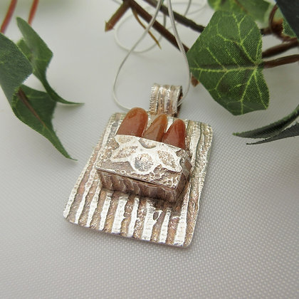 Handcrafted Silver, Box Pendant