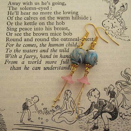 Fairy Style, Glass Bead Earrings