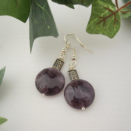 Amethyst Earrings, Celtic Style, Gift For Her