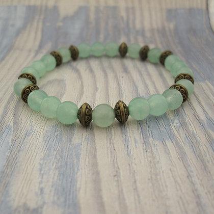 Gemstone Bracelet, Green Aventurine