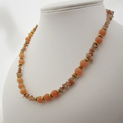 Autumn Style, Sunstone Necklace, Gift for Her