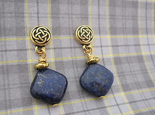 Lapis Earrings GP Celtic Ear posts 3.jpg