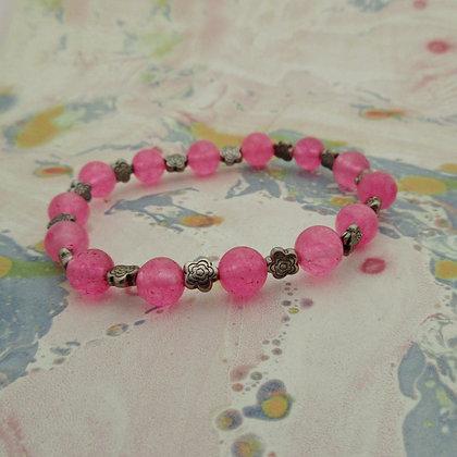 Gemstone Bracelet, Pink Quartz