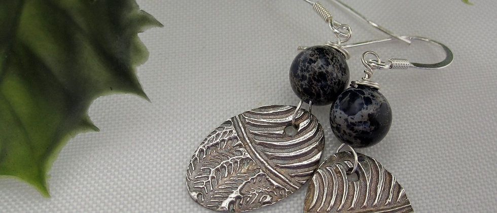 Handcrafted Silver Earrings with Jasper