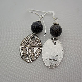 Handcrafted Silver and Jasper Earrings