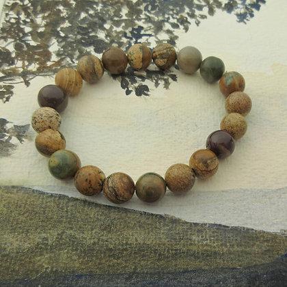 Gemstone Bracelet, Woodland Jasper