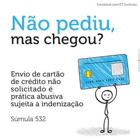 Constitui prática comercial abusiva o envio de cartão de crédito sem prévia e expressa solicitação d
