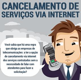 Cancelamento de serviço via internet