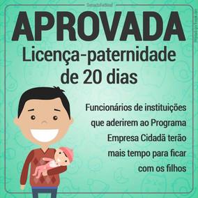 Licença-paternidade de 20 dias