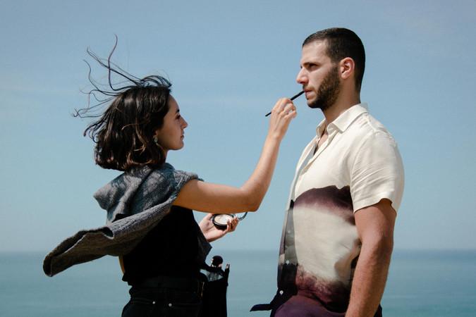 Make up artist Gaia Bernet and Benjamin