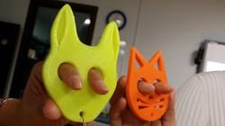 LLaveros impresos 3D