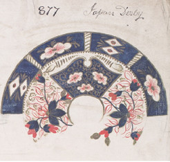 Imari design in pattern book