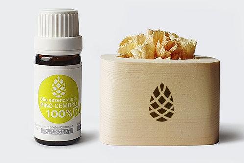Profumatore in legno di Cirmolo con olio essenziale Bio