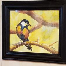 Bird on Branch watercolor