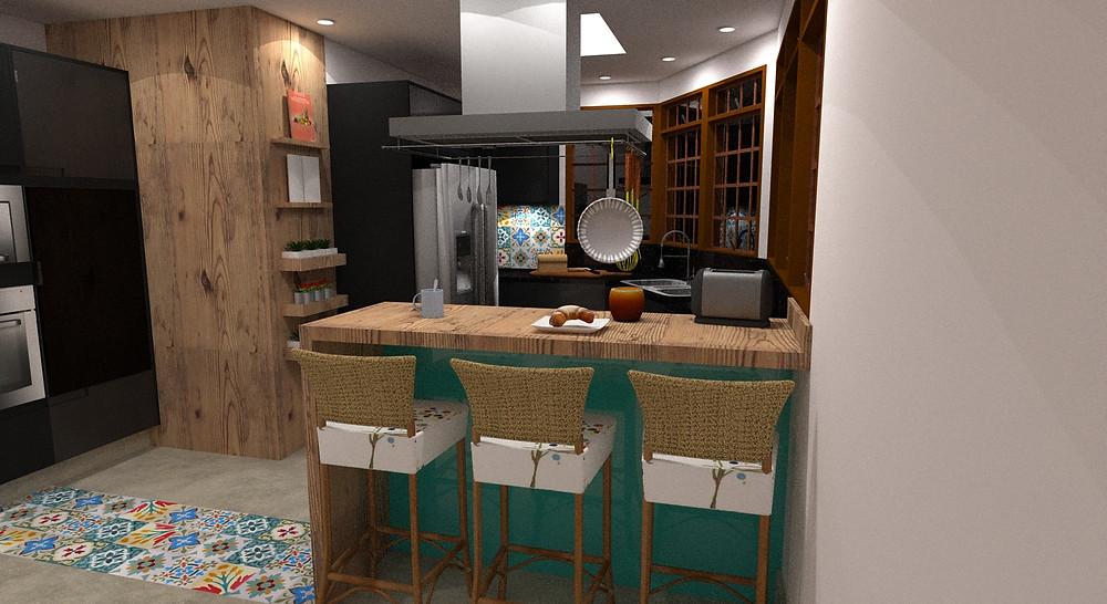 Cozinha planejada em preto