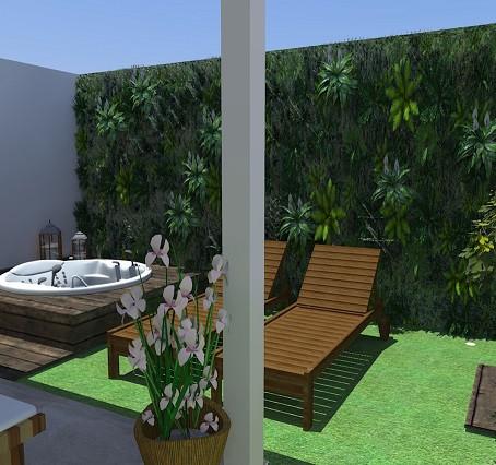 Jardim com área zen!