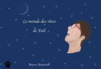 couverture du livre Le monde des rêves de Yaël, fond bleu avec des étoiles et un visage