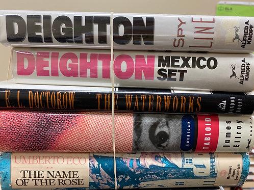 Hardback Fiction - Deighton, Doctorow, Ellroy, Eco