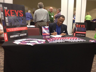 Jay Augustine's book signing in Navasota, TX was a success