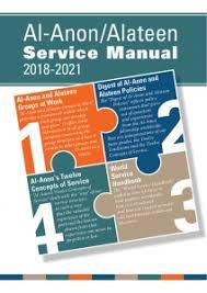 Al-Anon/Alateen 2018-2021 Service Manual P-24/27