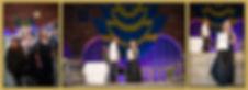 Det är tre bilder, på den första bilden tågar många människor ner för trappan i Blå Hallen i Stockholm. En av dem är Fotograf Marie de Verdier. På nästa bild tar Fotgraf Marie de Verdier emot Mästarbrevet framför vackert draperade Svenska Flaggor i Blå Hallen. Den tredje bilden är ett porträtt där Fotograf Marie de Verdier poserar i svart balklänning och visar upp mästarbrevet mot fotografen.
