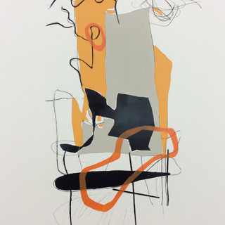 Tango#61_relief ink,litho crayon on yupo