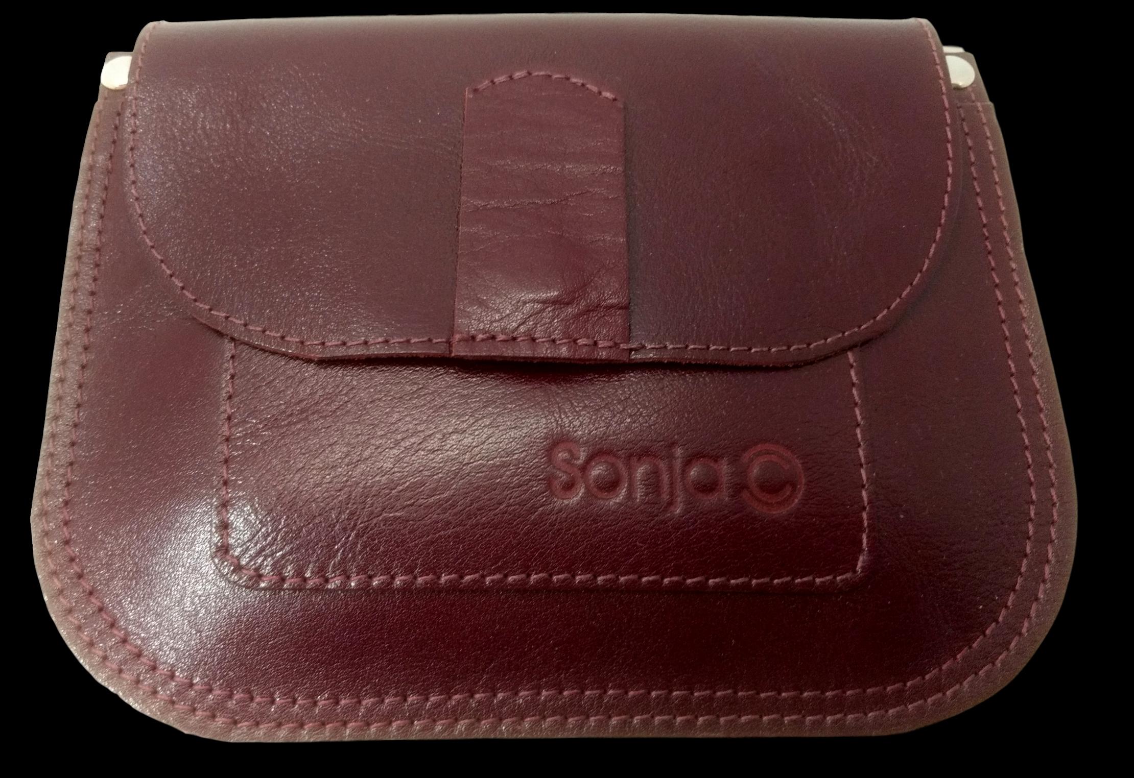 Ox Blood Leather Pocket Bag
