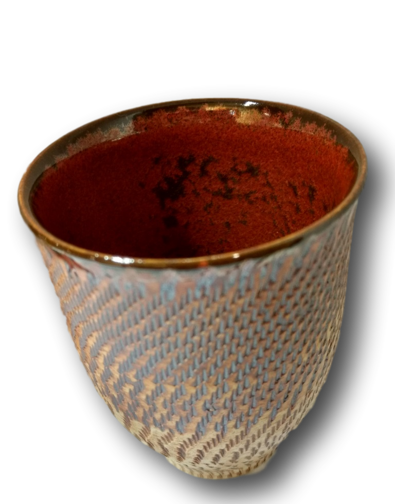 Rusted Glaze Chattered Beakers
