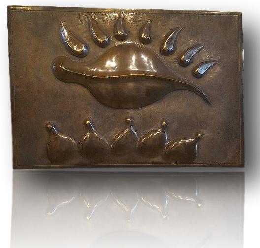 "Small Bronze panel ""Illumination"""
