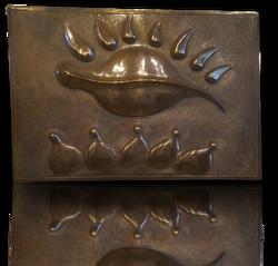 "Small Bronze panel ""Illumination"""