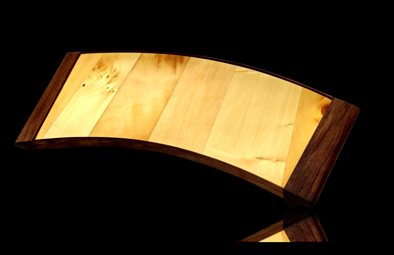 Huon Pine & Blackwood Curved Tray