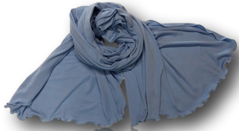Pale Blue Wide Scarf