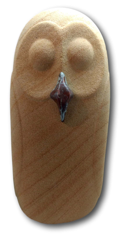 Medium Sandstone Owl