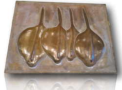 """Large Bronze panel """"Seed pods"""""""