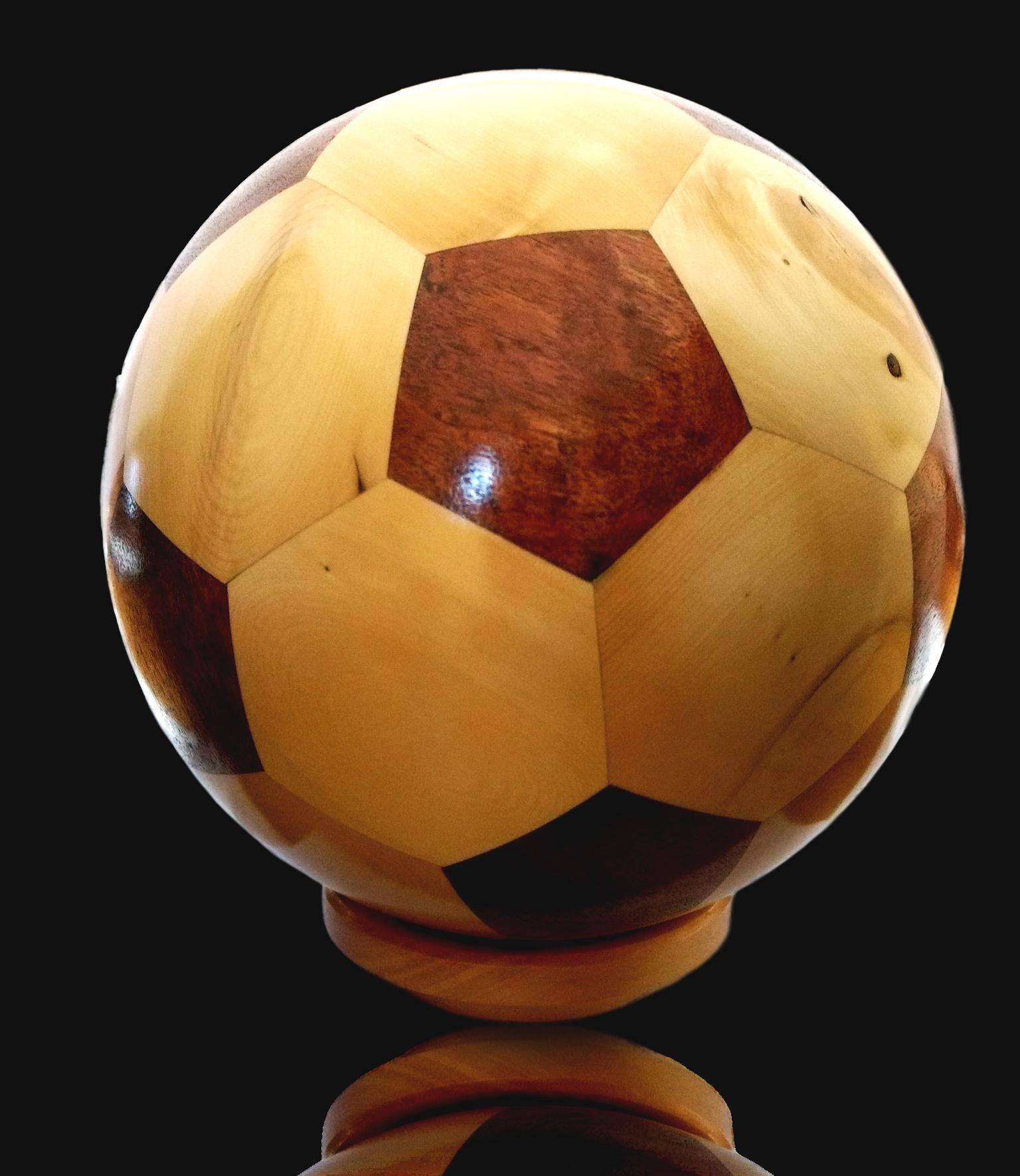 Huon Pine & Blackwood Soccer Ball