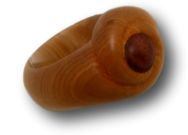 Huon Pine & Blackwood Swirl Ring