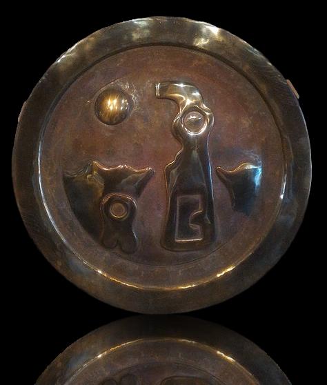 Round Bronze panel
