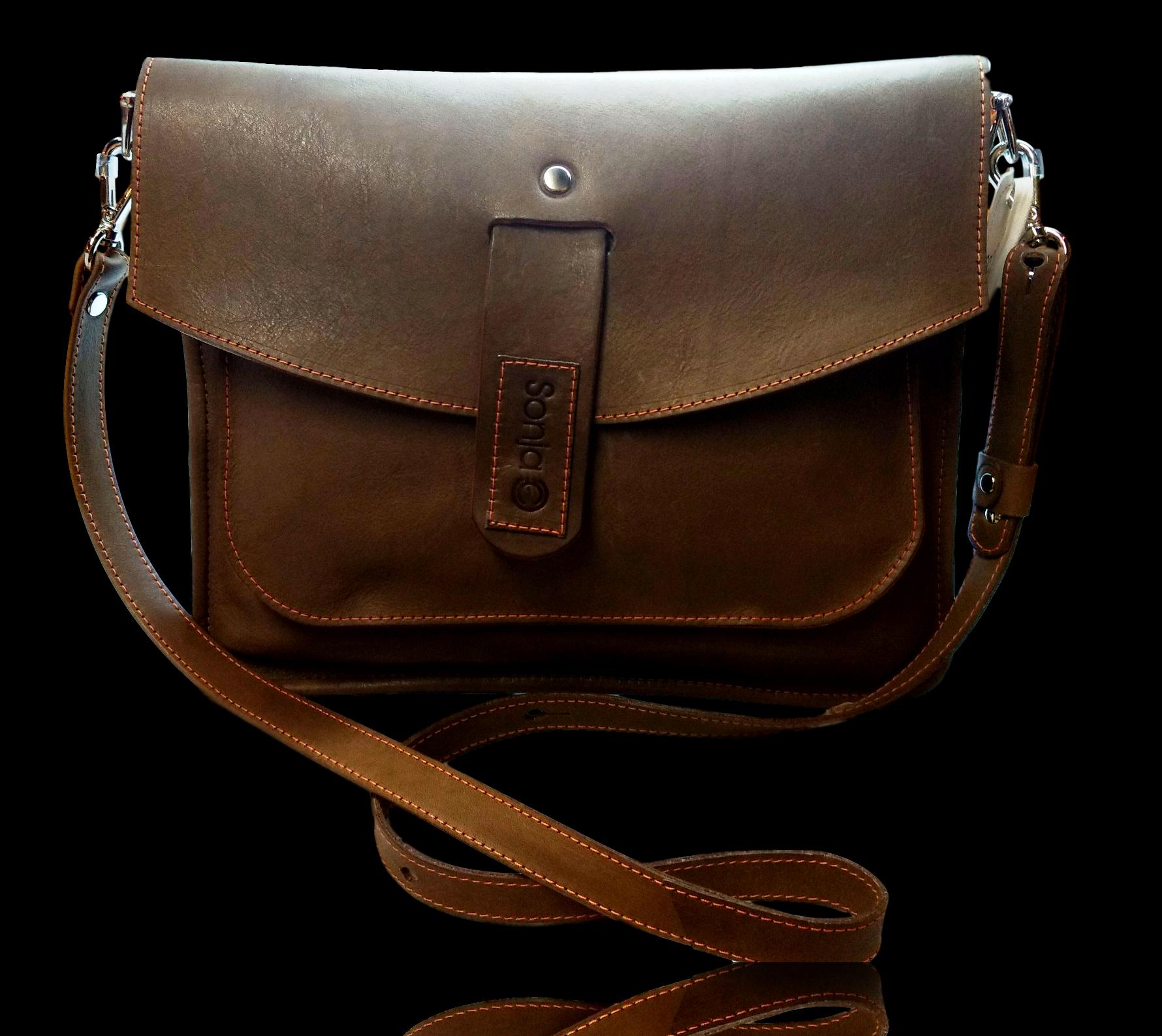 3 Pocket Leather Clutch