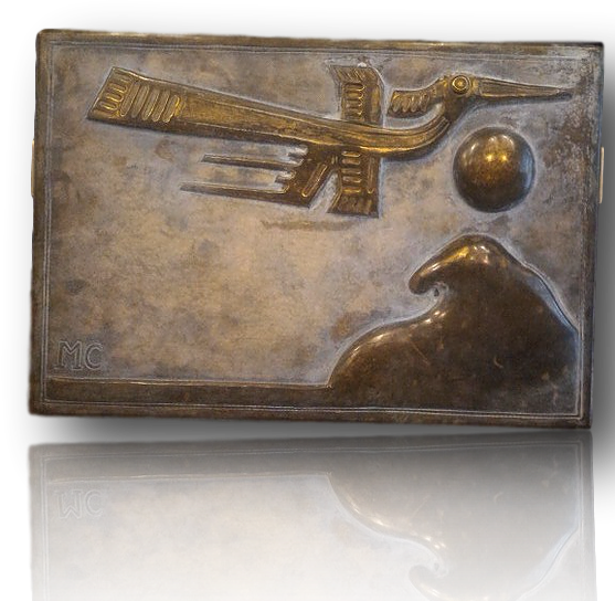 "Small Bronze panel ""Flamingo"""
