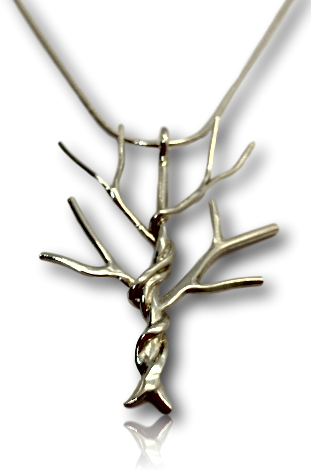 Entwined Silver Tree Pendant