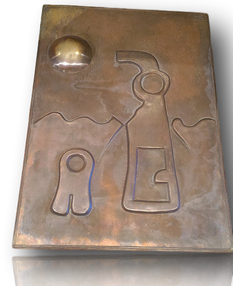 "Large Bronze panel ""Under the Sea"""