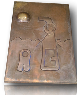 "Large Bronze panel ""Under the Sea"""