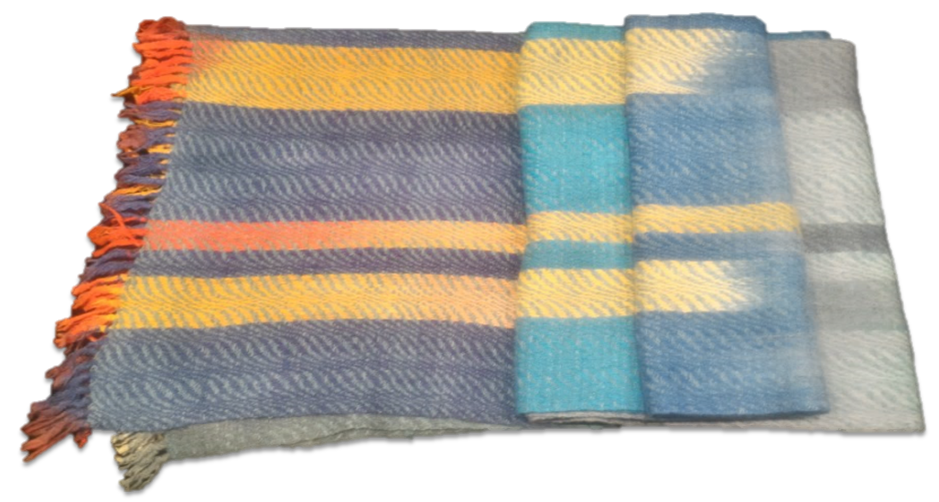 Fine Wool Shawl hand woven