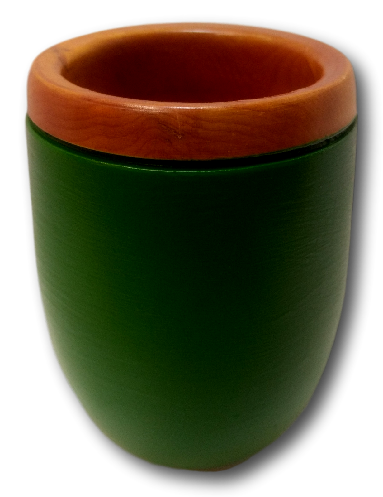 Green Painted Huon Pine Vessel
