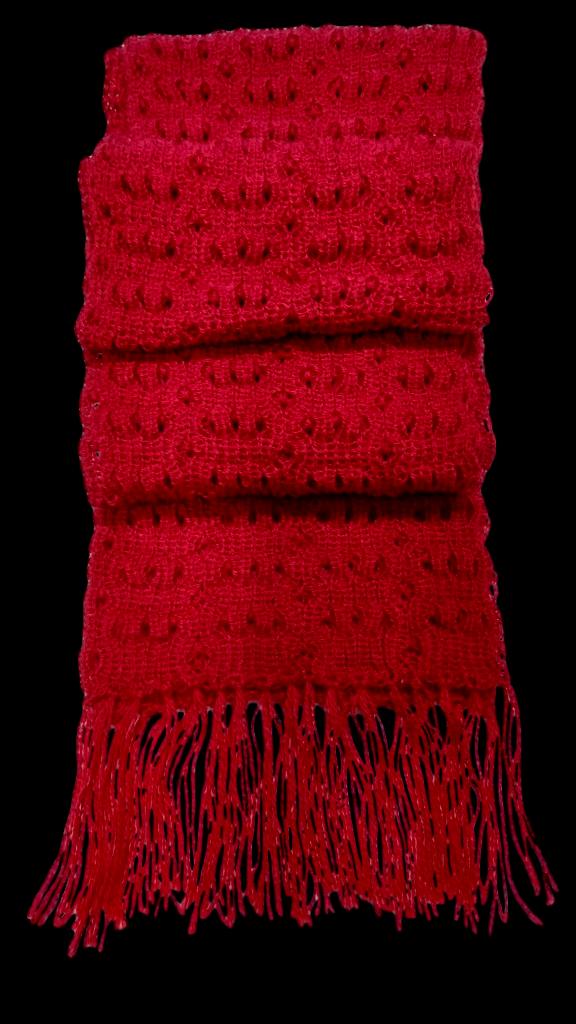 Red Scarf Alpaca Wool