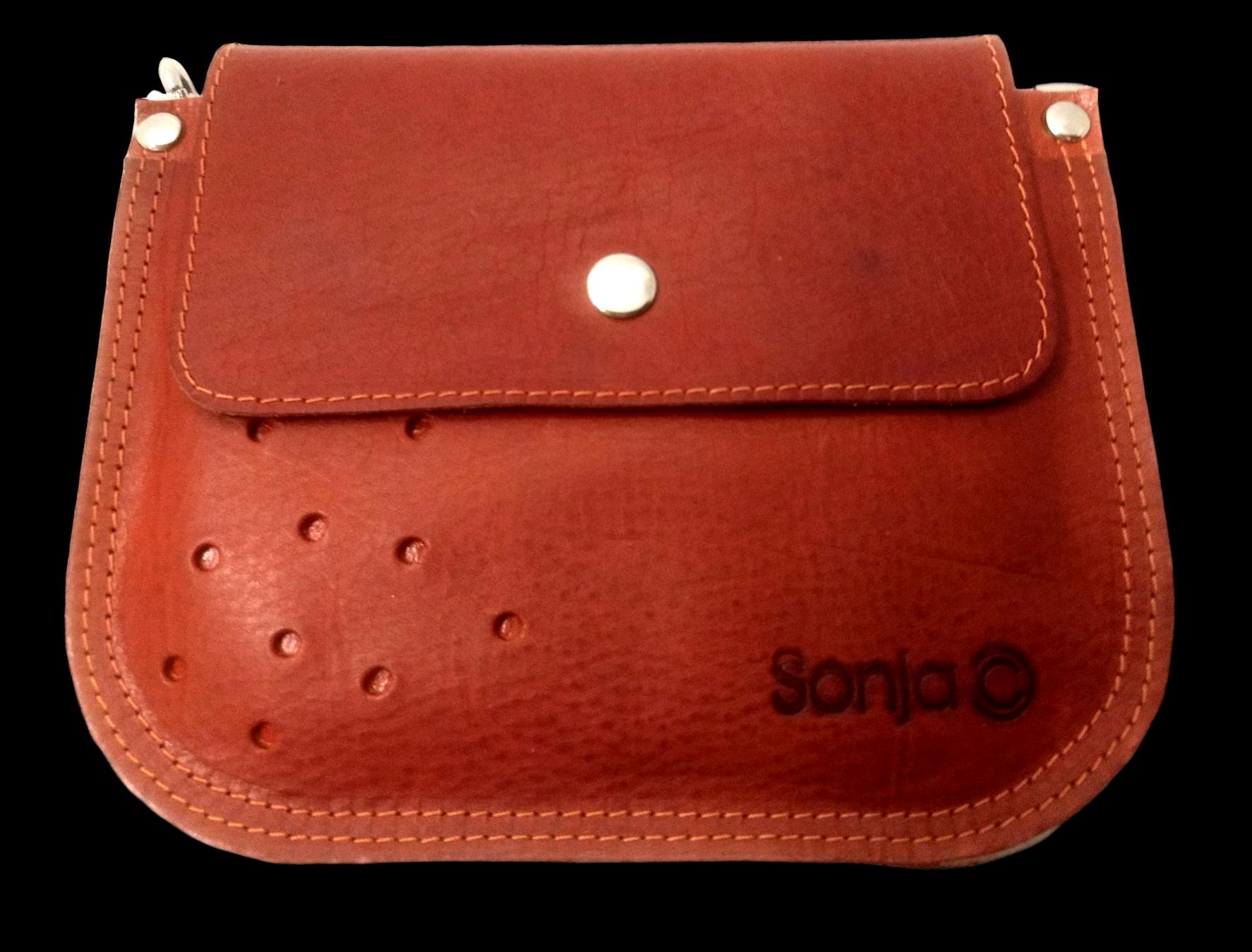 Tan Leather Pocket Bag